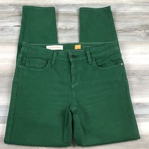 Anthro Pilcro Stet Green Skinny Ankle jeans 29